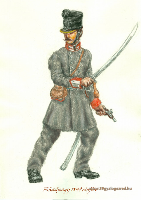 39-es életutak az 1848-49-es forradalom és szabadságharcban III. A szabadságharc alatt  az ezredből kilépett, illetve a császáriakhoz átállt tisztek
