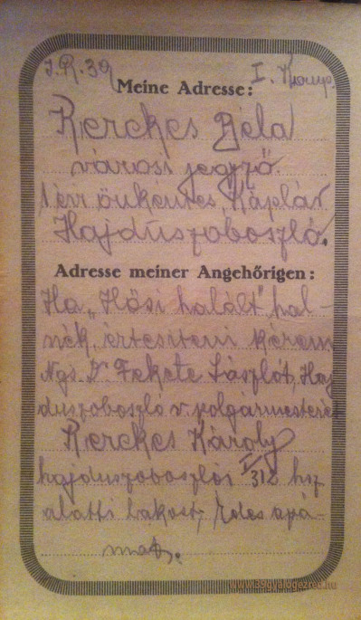 Hajdúszoboszló jegyzőjének háborús naplója