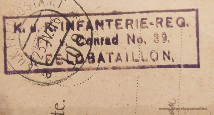 39-es tábori posta